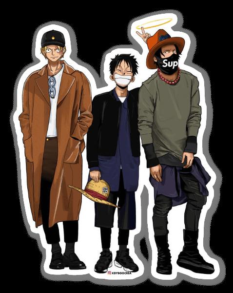 3 Piratas pegatina