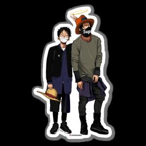 Luffy & Ace sticker