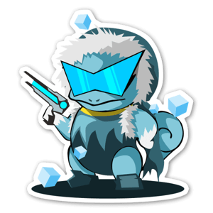 Captain Squirtle sticker