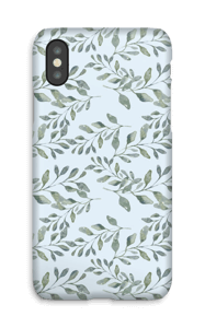 Leaf pattern case IPhone X