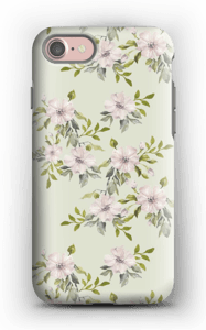 Pink flowers  case IPhone 7 tough