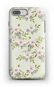 Pink flowers  case IPhone 7 Plus tough