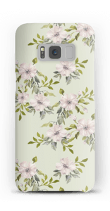 Flowers in light pink case Galaxy S8
