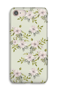 Pink flowers  case IPhone 8