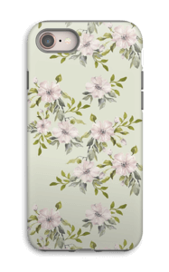 Pink flowers  case IPhone 8 tough