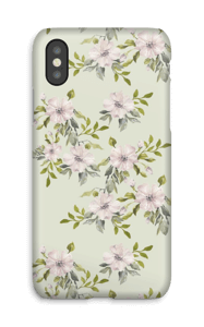 Pink flowers  case IPhone X