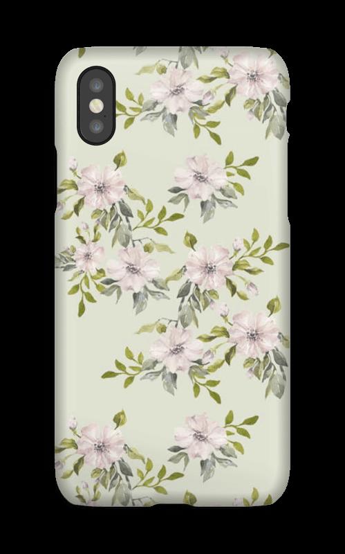Rosa blomster deksel IPhone X