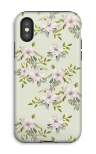 Pink flowers  case IPhone X tough