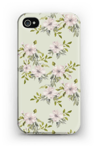 Pink flowers  case IPhone 4/4s
