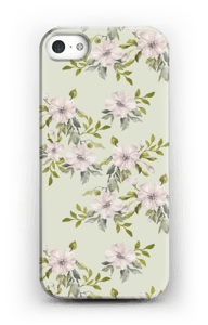 Flowers in light pink case IPhone 5/5S