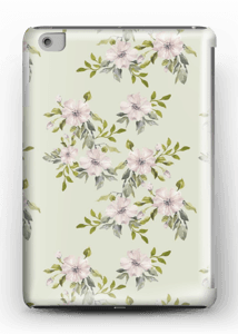 Flowers in light pink case IPad mini 2