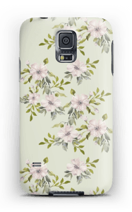 Pink flowers  case Galaxy S5