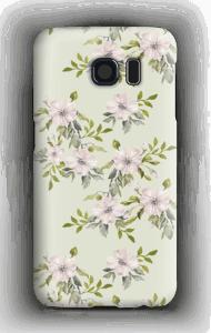 Pinkki kukka kuoret Galaxy S6