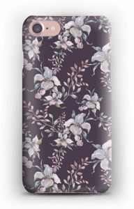 Lilla blomster deksel IPhone 7