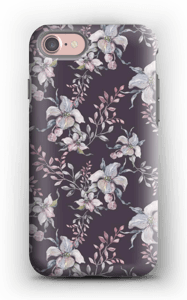 Flowers & purple case IPhone 7 tough