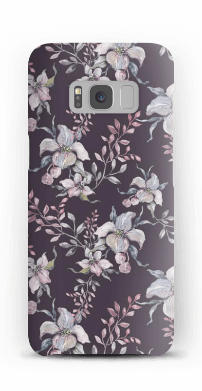 Lila Blumen Handyhülle Galaxy S8