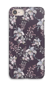 Flowers & purple case IPhone 8