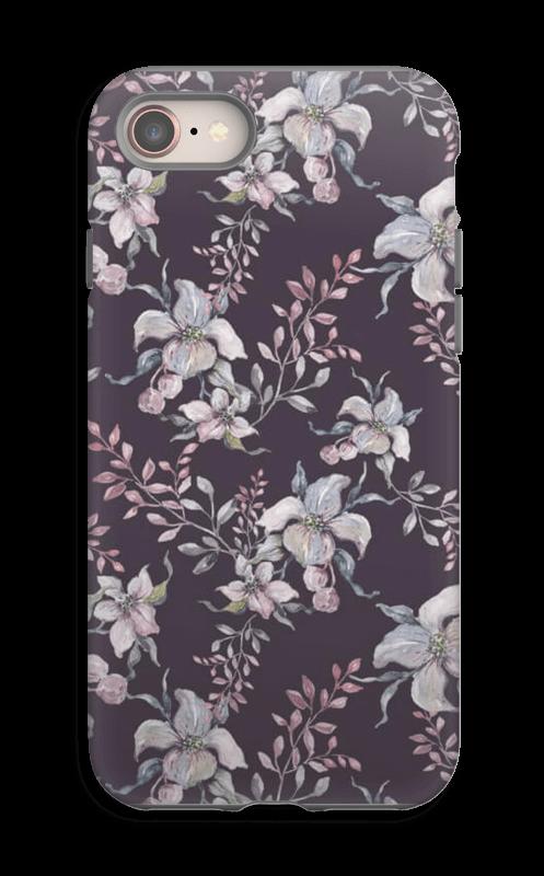 Flowers & purple case IPhone 8 tough