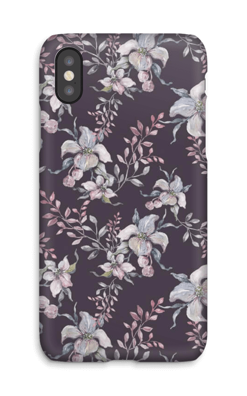 Lilla blomster deksel IPhone X