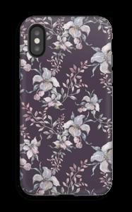 Blomster i lila skal IPhone X tough