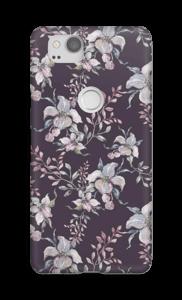 Bloemen in lila hoesje Pixel 2
