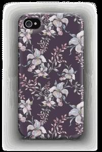 Flowers & purple case IPhone 4/4s