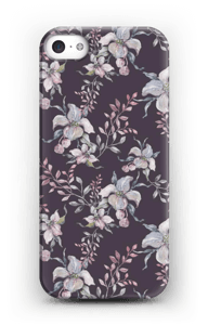 Flowers & purple case IPhone 5/5S