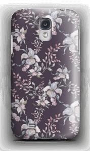 Lilla blomster deksel Galaxy S4