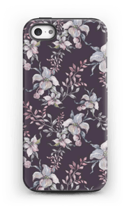 Flowers & purple case IPhone 5/5s tough