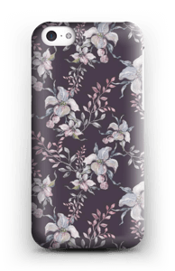 Flowers & purple case IPhone 5c