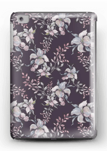 Flowers & purple case IPad mini 2