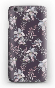 Blomster i lilla cover IPhone 6s