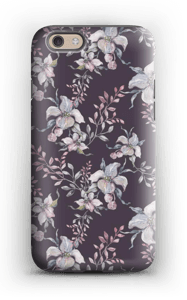 Blomster i lila skal IPhone 6s tough