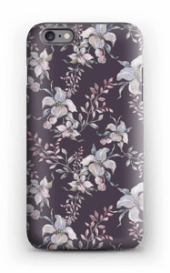 Blomster i lilla cover IPhone 6 Plus tough