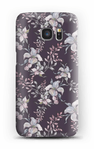 Lila Blumen Handyhülle Galaxy S7