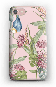 Parrot & flowers case IPhone 7