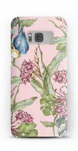 Parrot & flowers case Galaxy S8