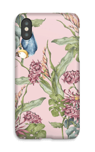 Parrot & flowers case IPhone X