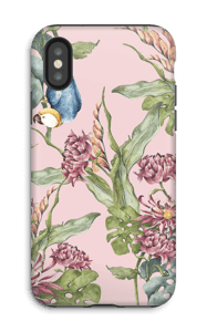 Parrot in nature case IPhone X tough