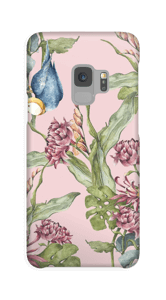 Parrot & flowers case Galaxy S9