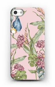 Parrot & flowers case IPhone 5/5S
