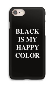 Ett svart skal med vit text: Svart är min Happy Color