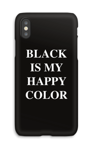 Black is my happy color deksel IPhone X
