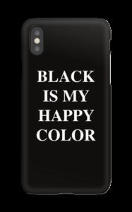 Black is my happy color Coque  IPhone XS