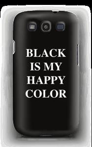 Black is my happy color deksel Galaxy S3