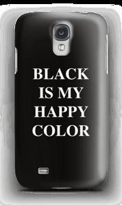 Black is my happy color deksel Galaxy S4