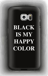 Black is my happy color deksel Galaxy S6 Edge