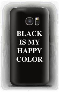 Black is my happy color deksel Galaxy S7