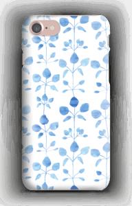 Blå blomster deksel IPhone 7