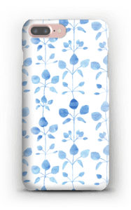 Blue flowers case IPhone 7 Plus